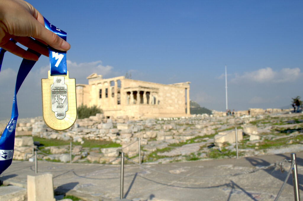 De Marathon van Athene lopen