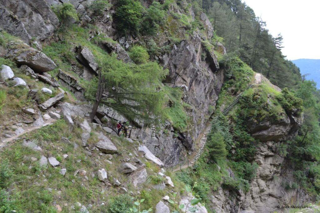 Constant klimmen en dalen tijdens de route van Giggelberg naar Katharinaberg