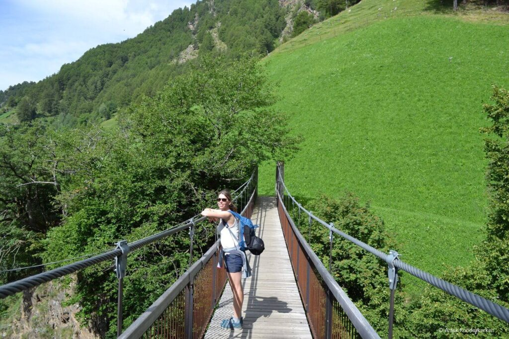 De route van Giggelberg naar Katharinaberg