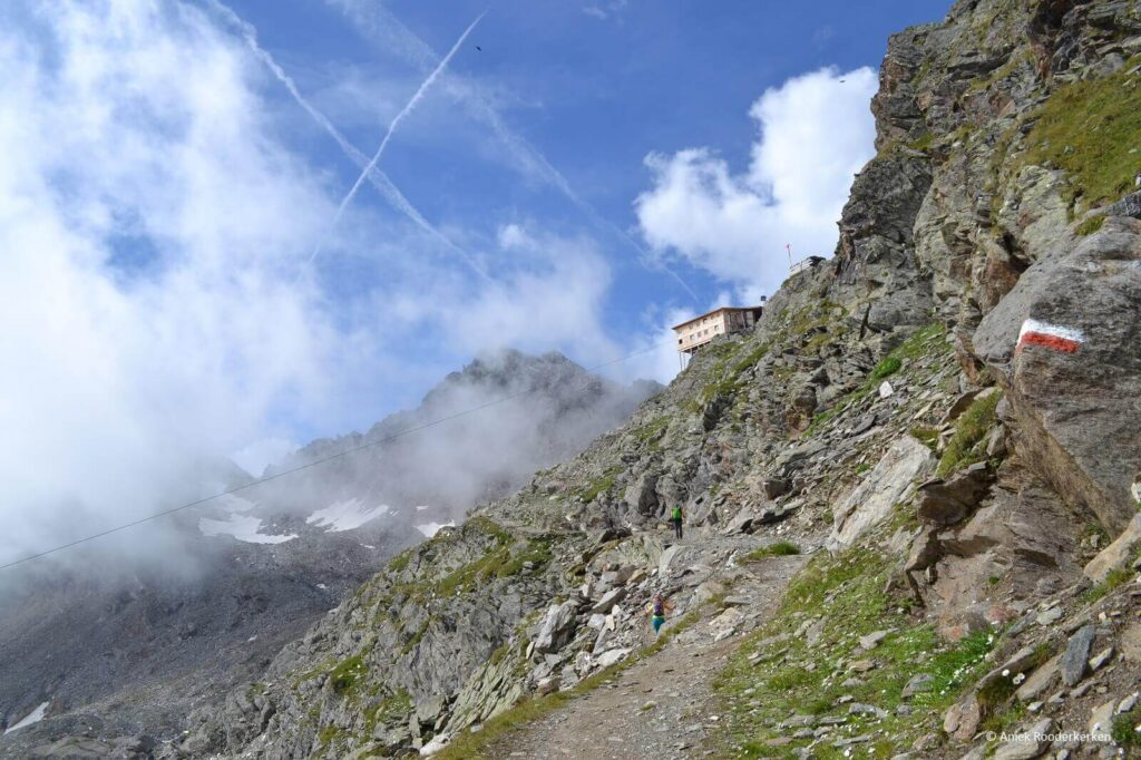Hiken naar Stettiner Hütte in Zuid-Tirol, Italië