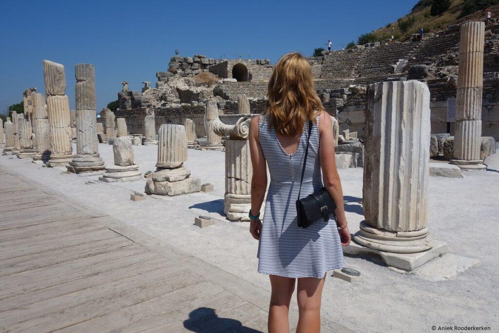 Cultuur in Kuşadası: archeologische opgravingen van Efeze