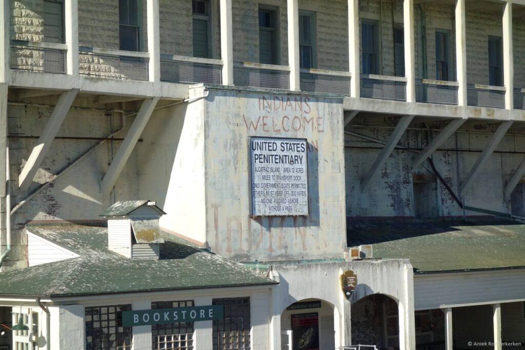 Aankomst op Alcatraz