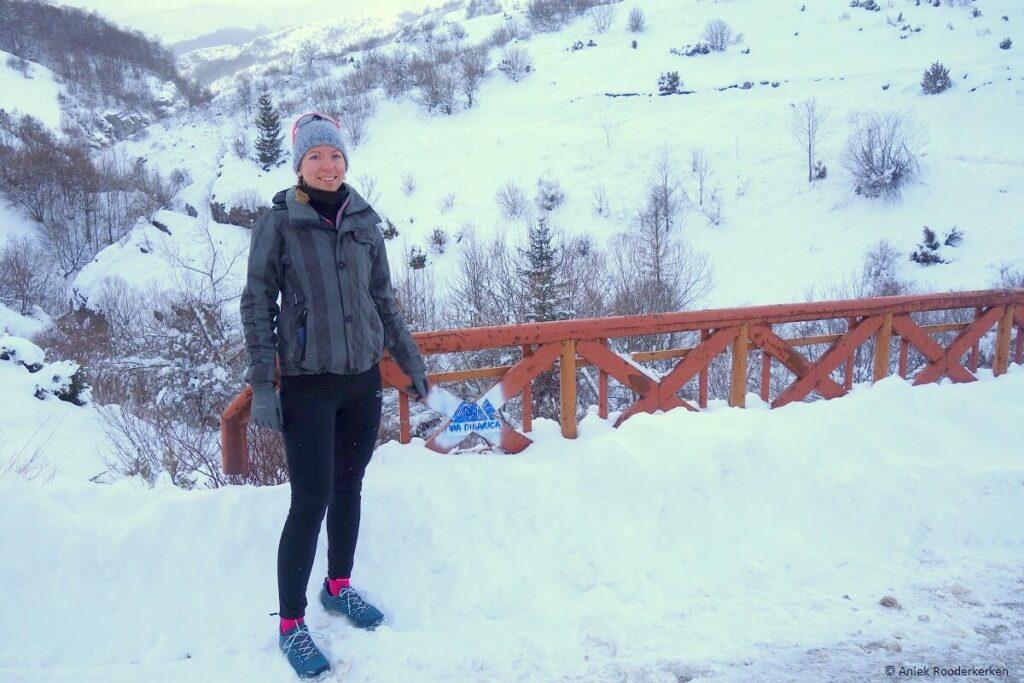 Lange afstandswandeling Via Dinarica, net buiten Sarajevo