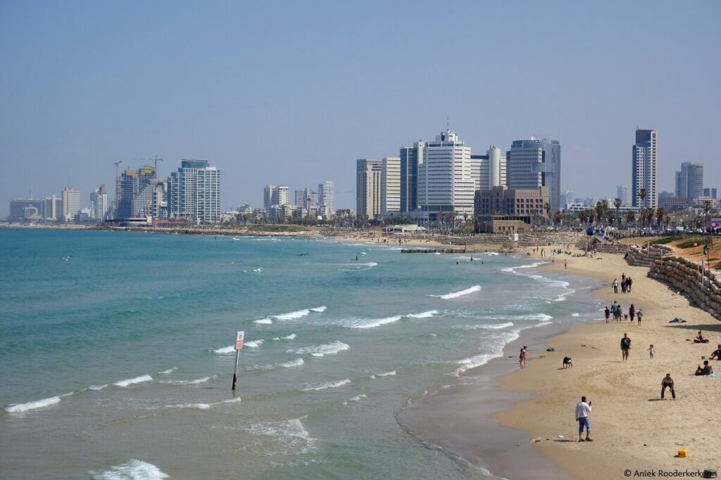 Zandstranden van Tel Aviv