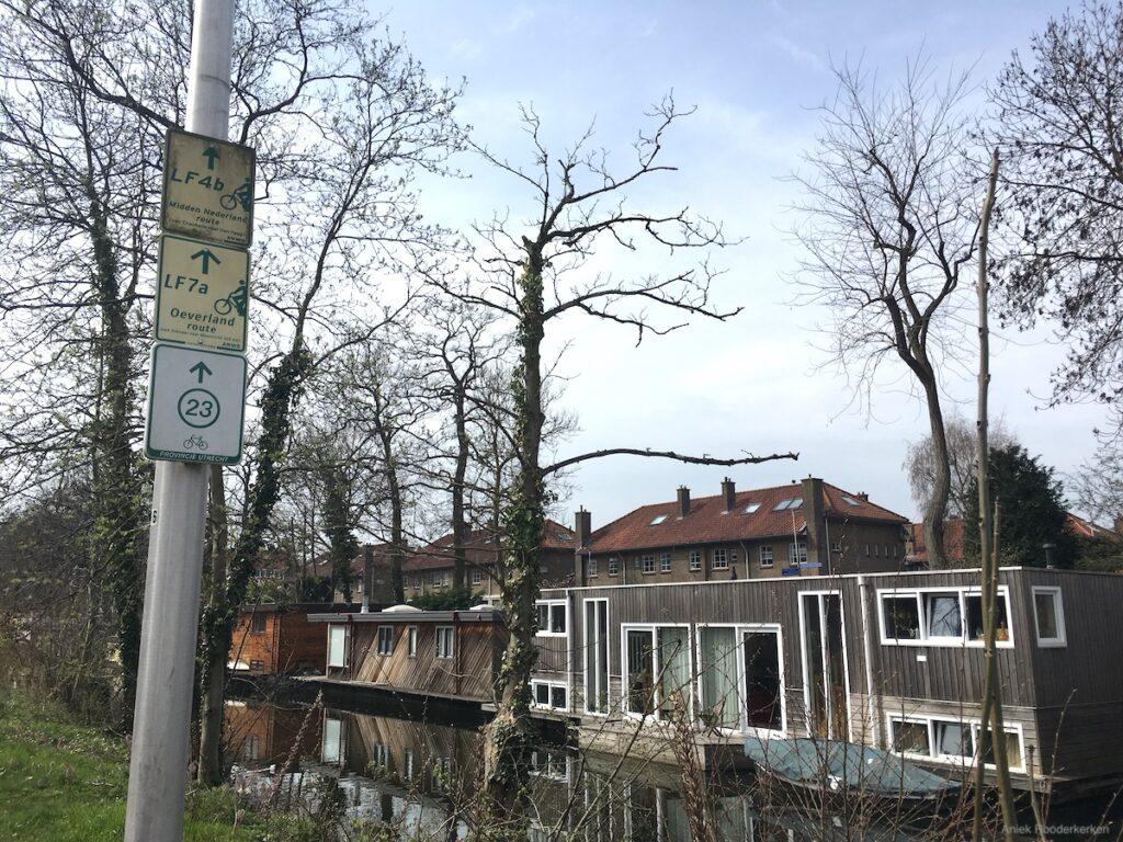 Ik volg de LF7 Oeverlandroute vanaf het Muntgebouw van Koninklijke Nederlandse Munt Utrecht