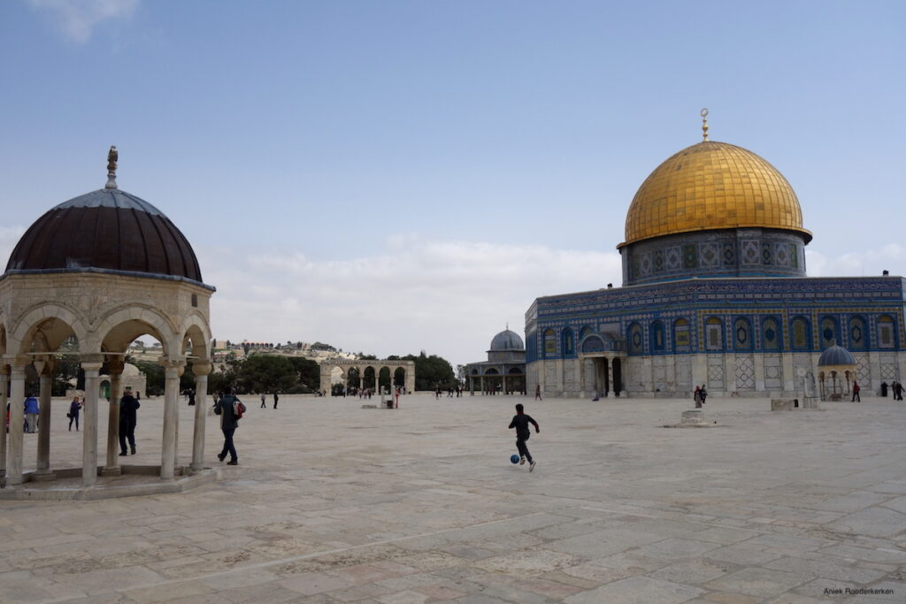 Rotskoepel op de Tempelberg in Jeruzalem, Israël