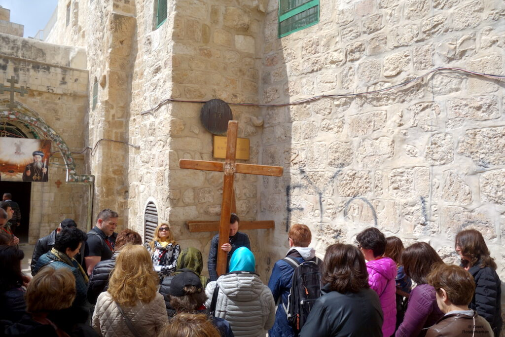Via Dolorosa in Jeruzalem
