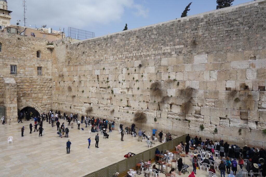 Westelijke Muur, of de Klaagmuur, in Jeruzalem