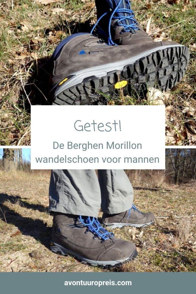 Stoere wandelschoenen! En ditmaal werden niet de damesschoenen getest, maar de Berghen Morillon High wandelschoen voor mannen. De halfhoge wandelschoen is perfect geschikt voor een meerdaagse hike op moeilijker terrein in de bergen.