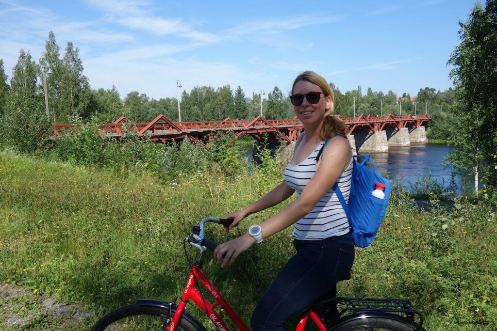 Tijdens de eerste reisdag maken we een mooie fietstocht in en om Skellefteå in Zweeds Lapland