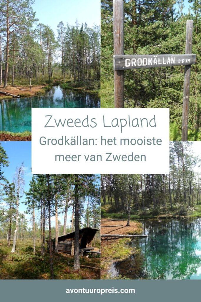 Tsuobbuojája noemen de Sami het. Kikkerbron. Het is beter bekend als Grodkällan en er wordt gefluisterd dat het misschien wel het mooiste meer van Zweden is. Must-se tijdens je roadtrip Zweeds Lapland