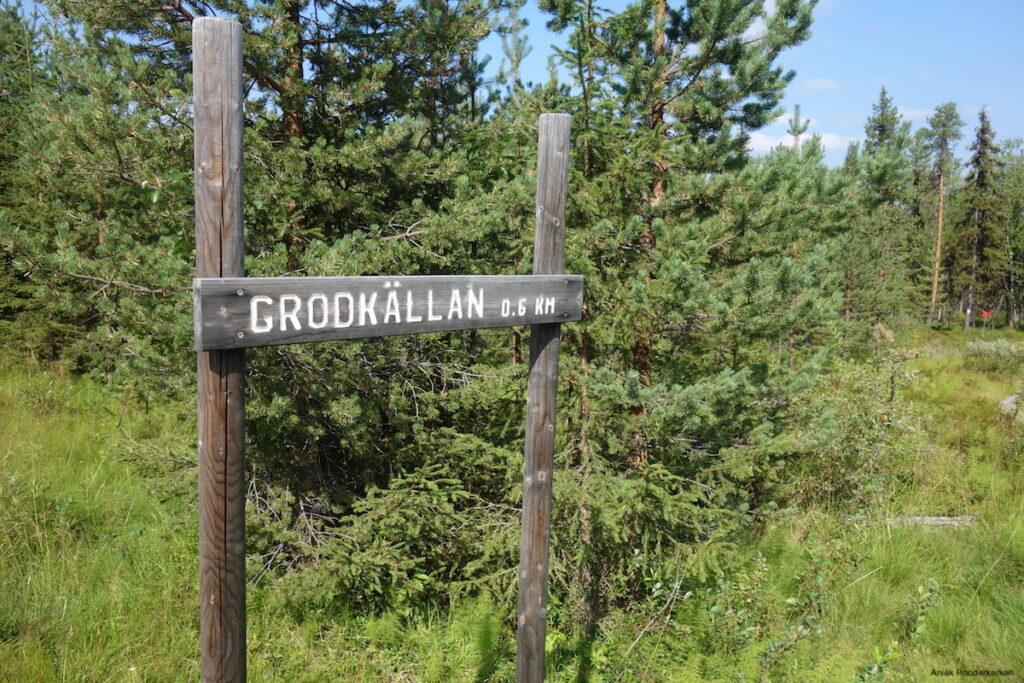 Hiken naar Grodkällan in Zweeds Lapland