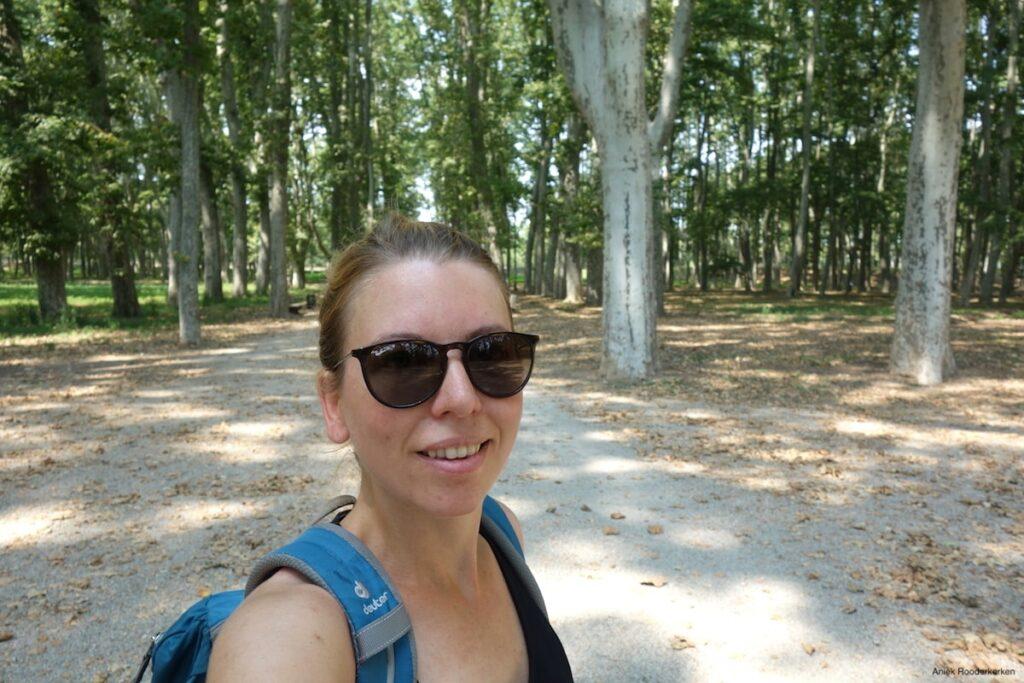 In Park Devesa is het een stuk rustiger dan in de oude binnenstad