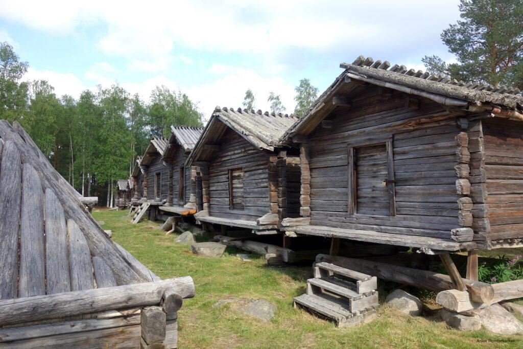 Lappstaden in Arvidsjaur, een klein stadje midden in Zweeds Lapland