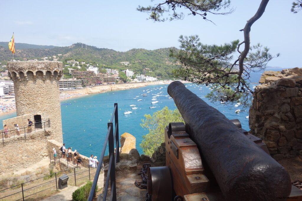 Het kasteel van Tossa de Mar in Spanje
