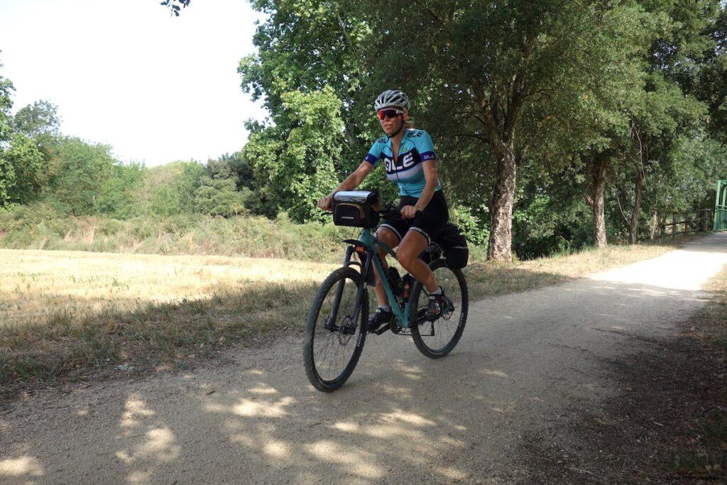 Vanaf Girona volg ik de eerste 20 kilometer de Ruta del Carrilet.