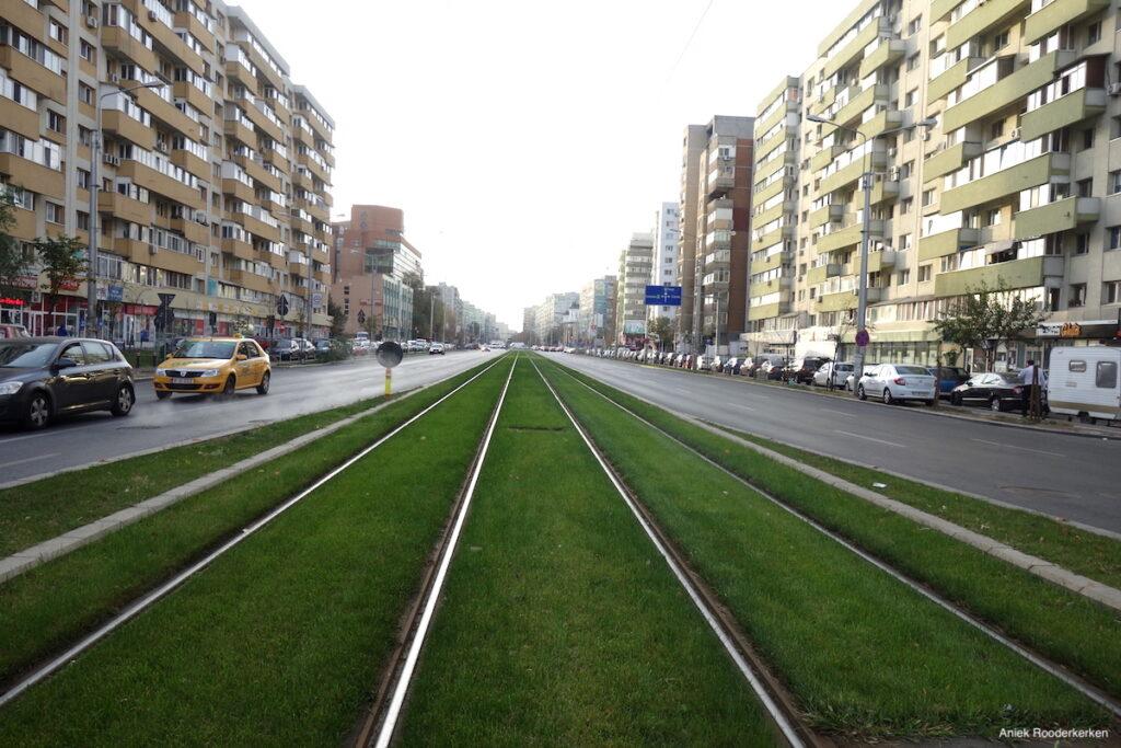 De wijk Pantelimon in Boekarest, Roemenië