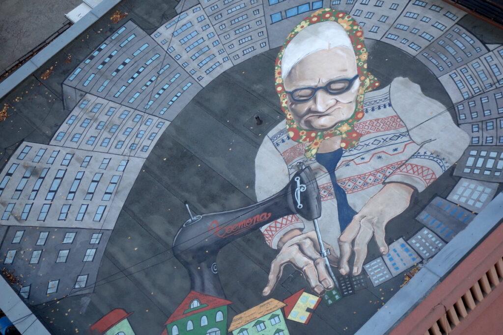 Street Art vanaf de Pantelimon watertoren