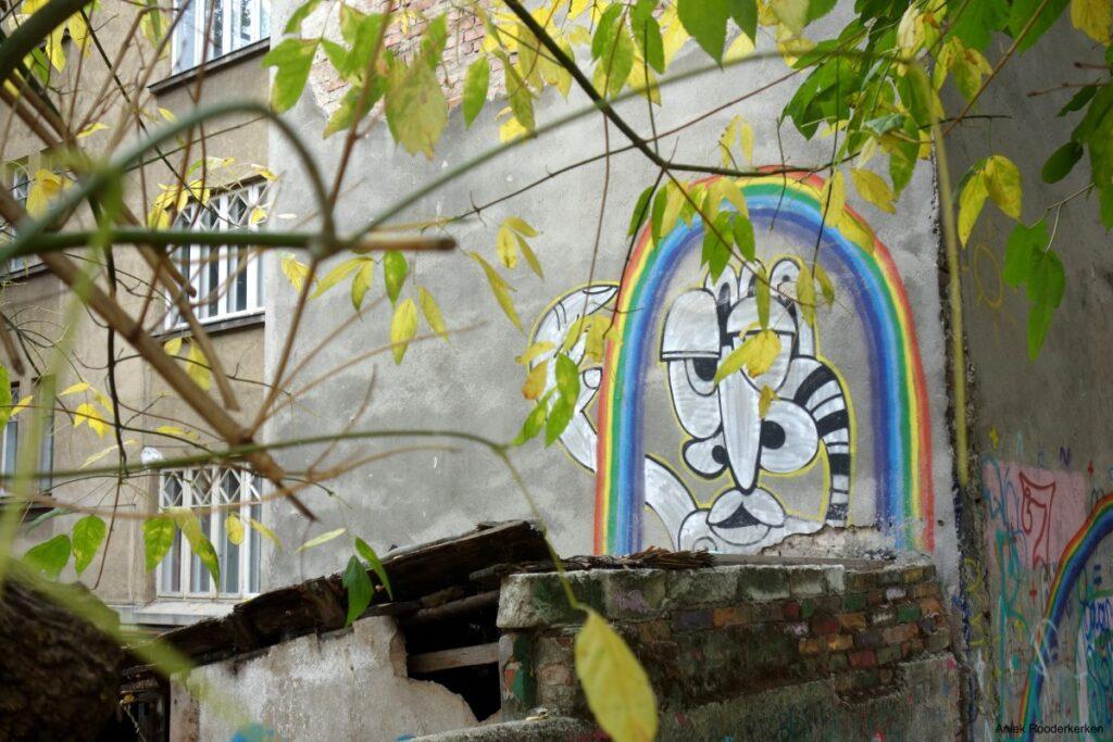 Street art in Boekarest, Roemenië