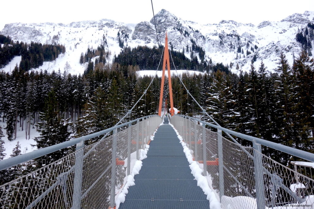 Golden Gate Bridge van Saalbach-Hinterglemm in de winter!