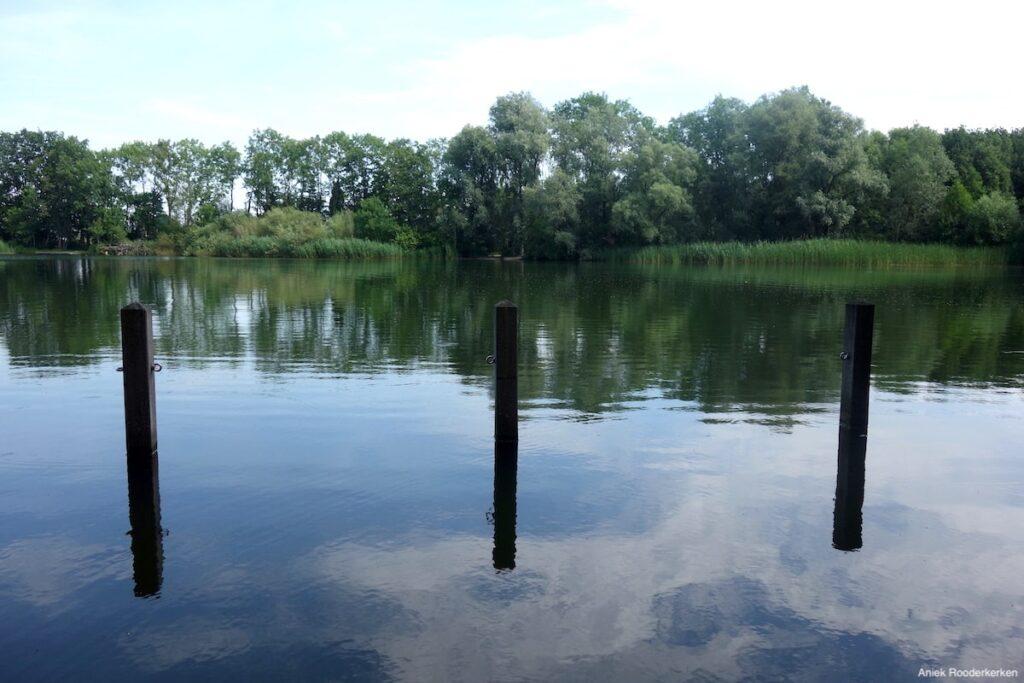 Reflecties in het water van de Maarsseveense Kleine Plas