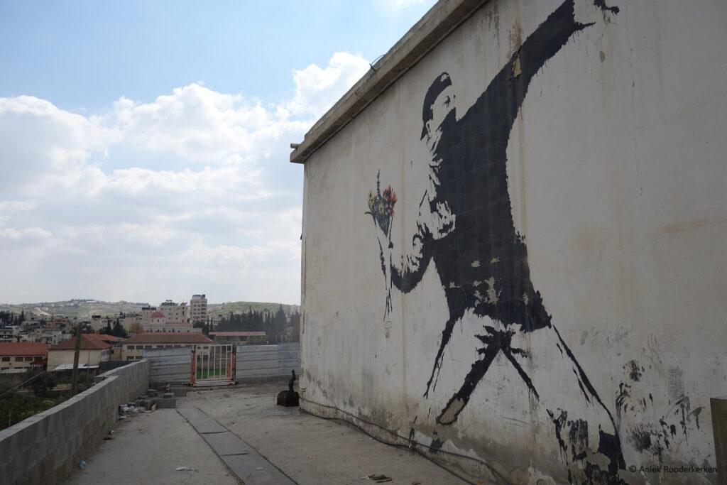 Street Art van Banksy in Bethlehem, Palestina