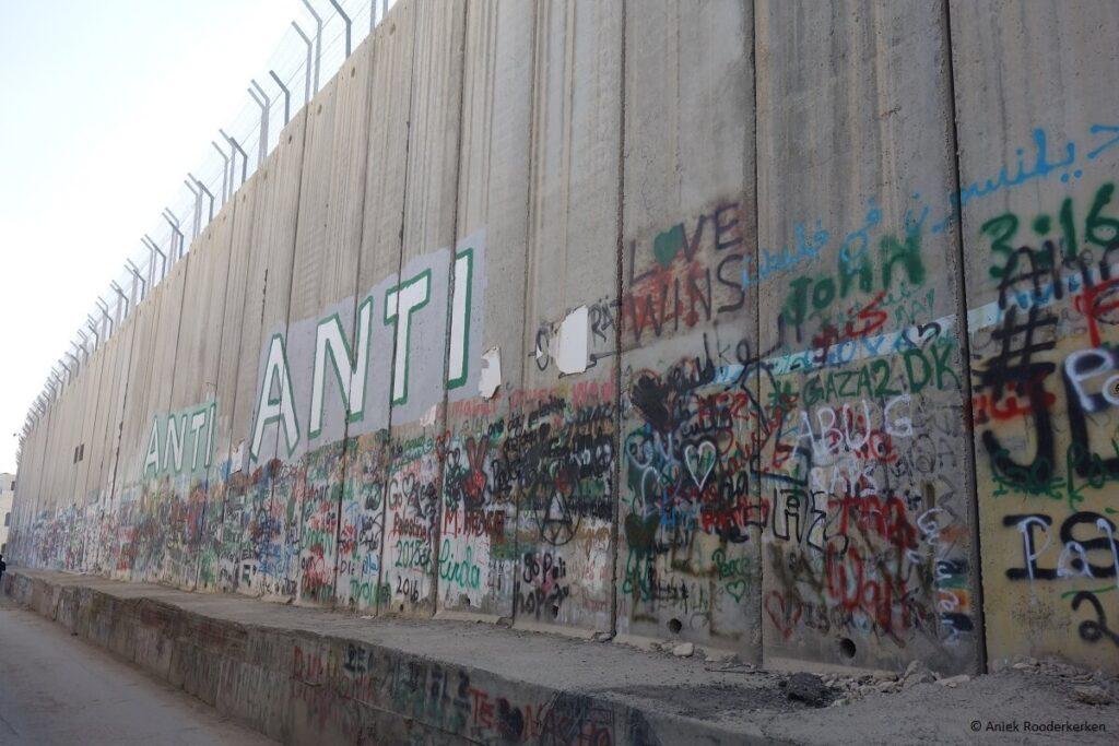 Street Art op de Israëlische Muur of Israëlische Westoeverbarrière in Bethlehem