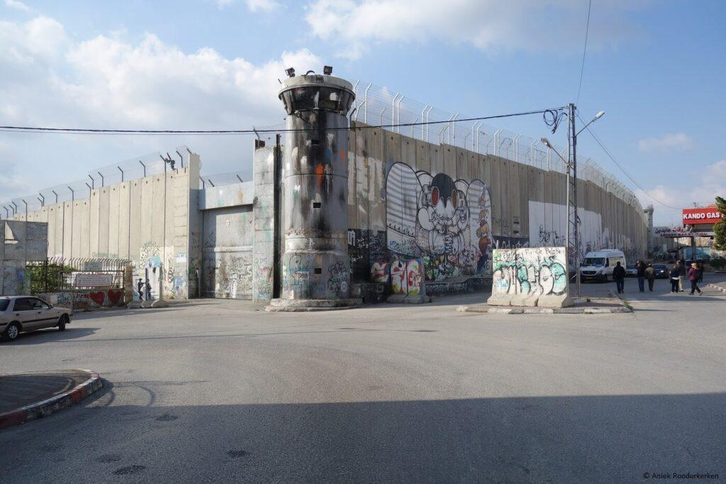 Israëelische Muur of Israëlische Westoeverbarrière in Bethlehem, Palestina