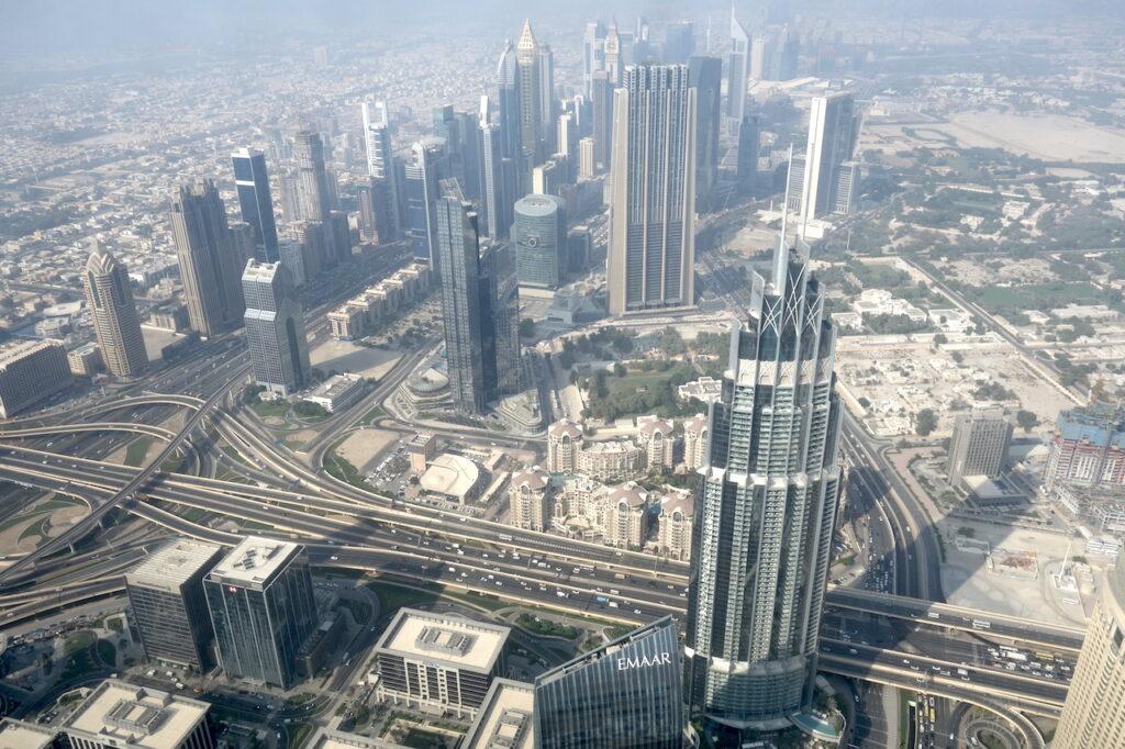 Zo ziet Dubai eruit vanaf de Burj Khalifa