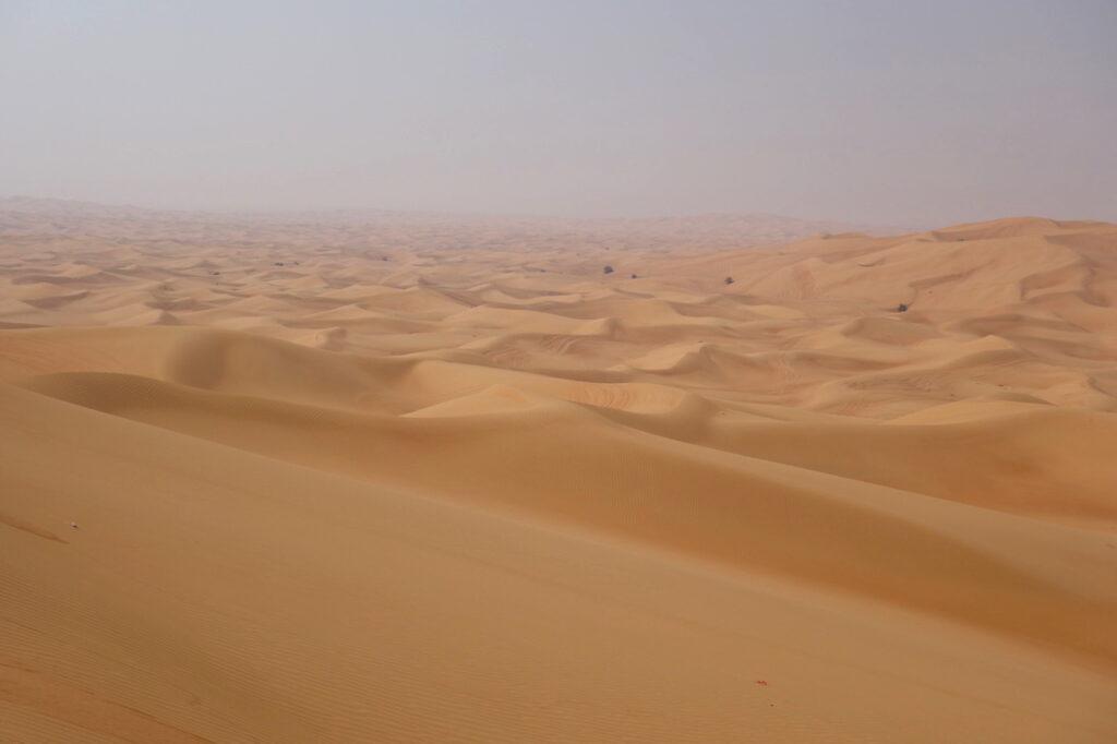 De woestijn bij Dubai