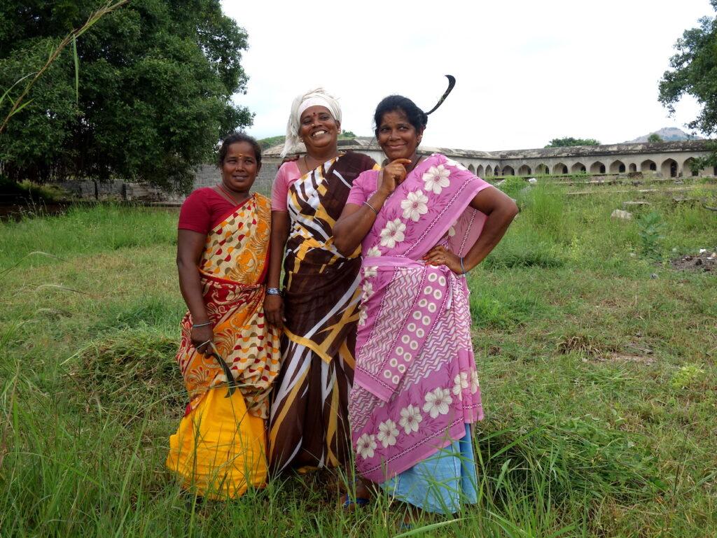 Vrouwen bij Gingee Fort