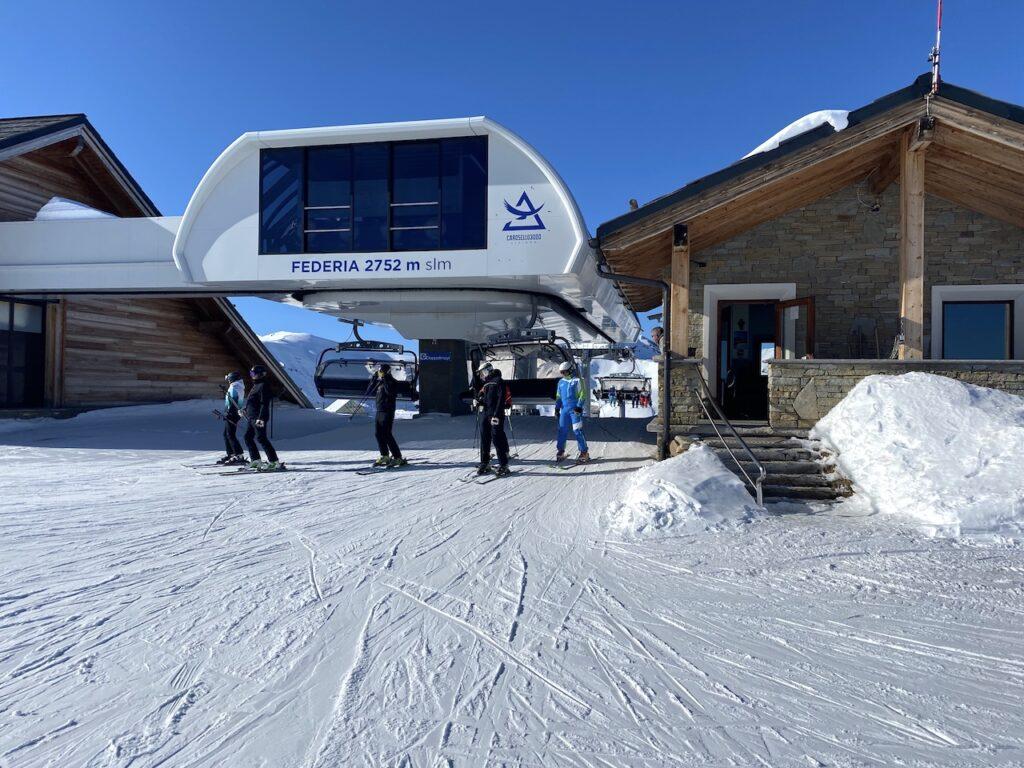 Federia skilift in het skigebied Carosello 3000