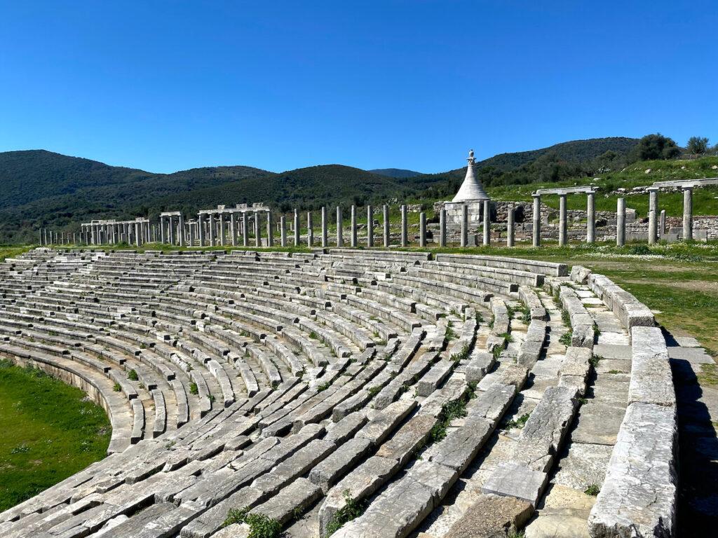 Het stadion van Oud-Messini