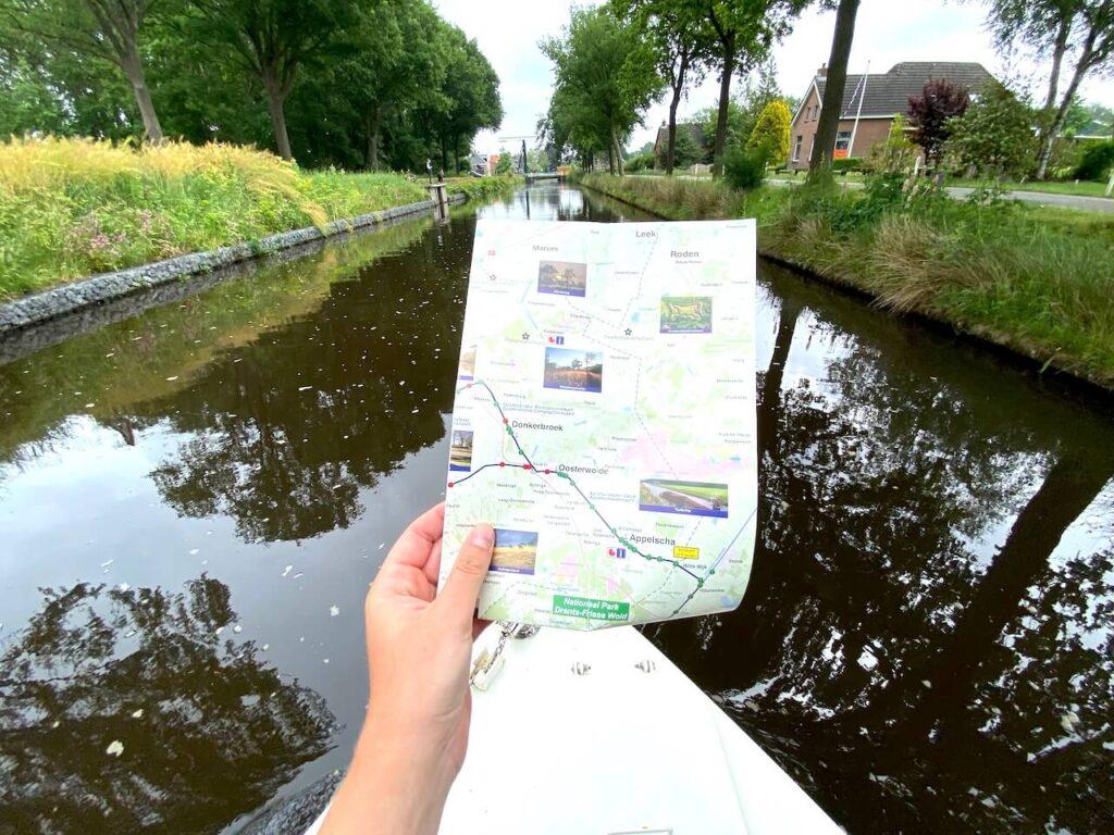 Turfroute varen in Zuidoost Friesland