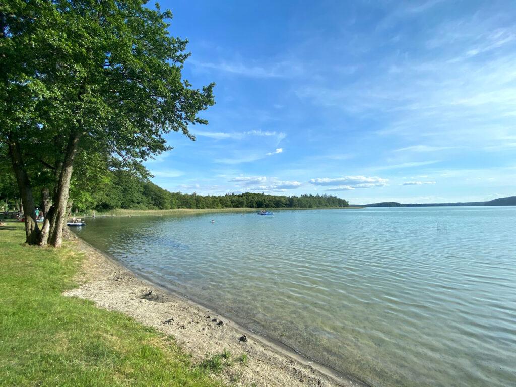 Zwemmen in het meer Breiter Luzin