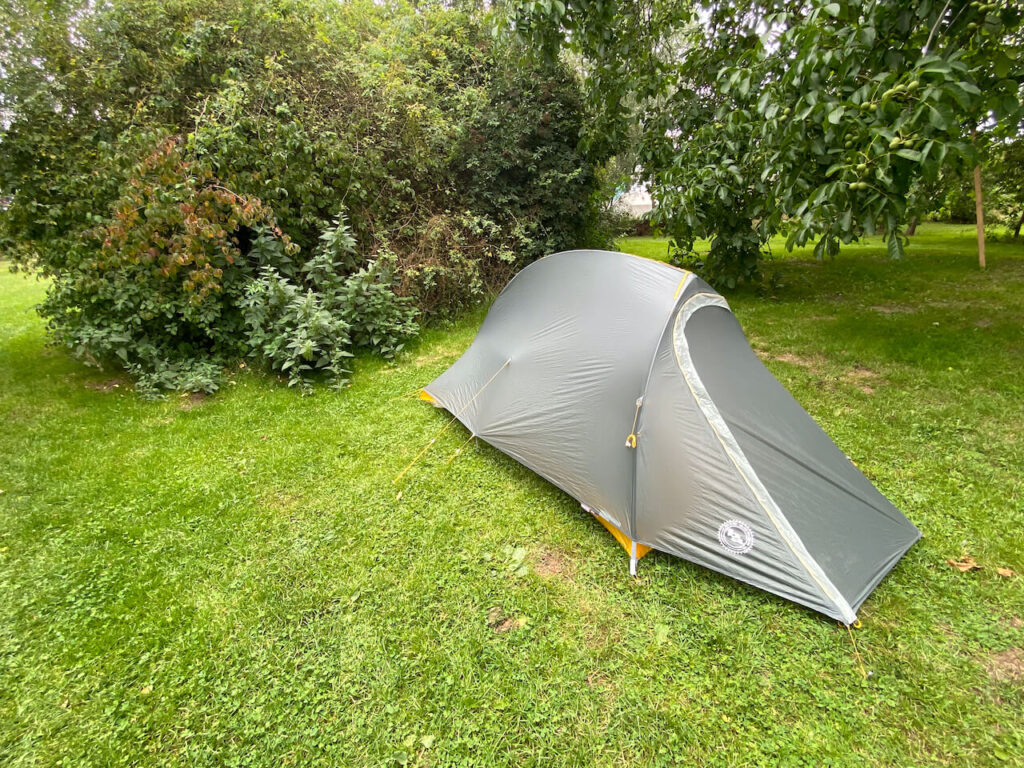 Big Agnes bikepacking tent
