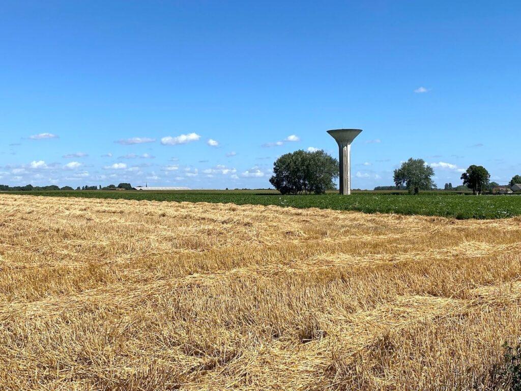 Gravelpaden en graanvelden