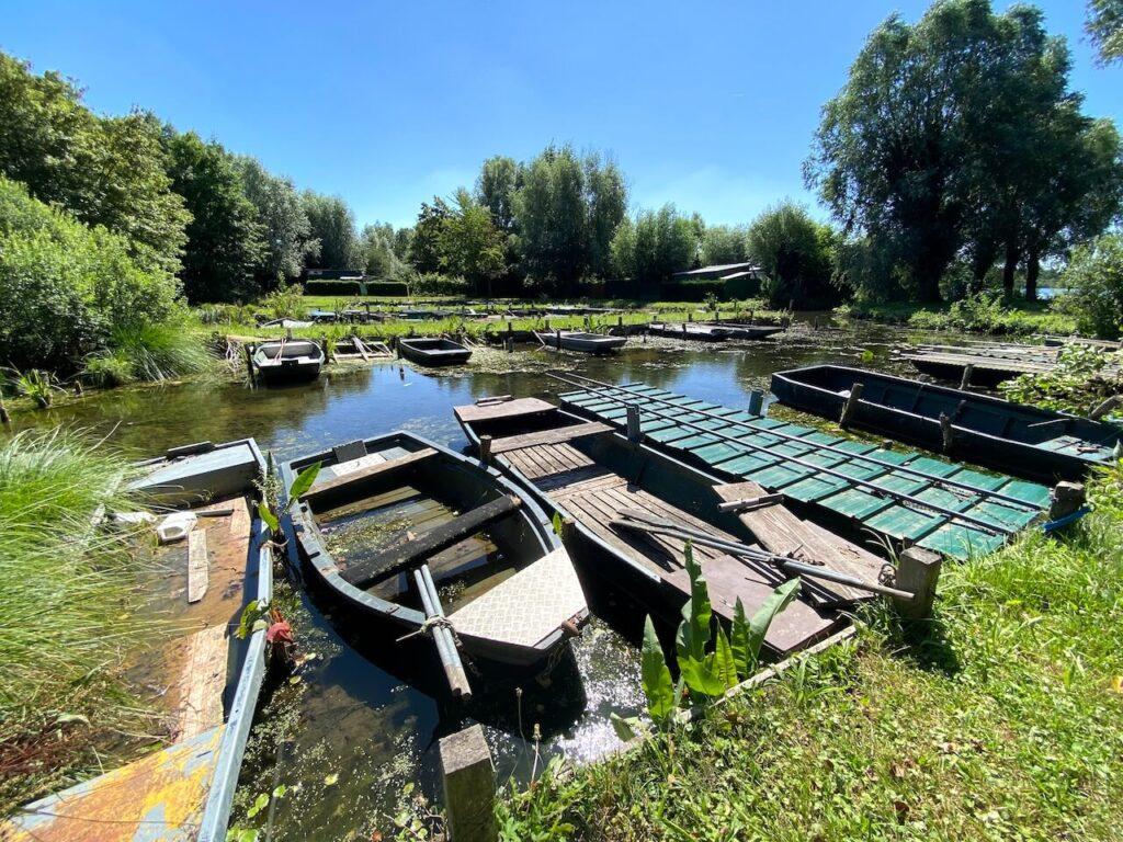 Waterrijk gebied rondom de rivier Sensée
