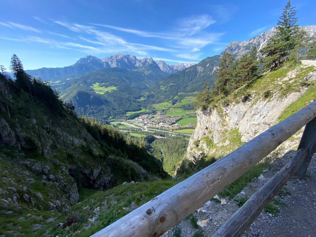 Uitzicht over de Salzach Vallei in Oostenrijk