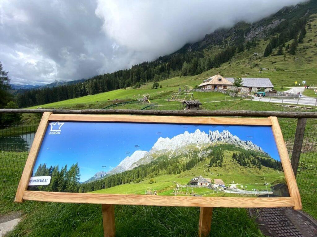 Uitzicht over de Hochkönig vanaf Berghotel Arthurhaus
