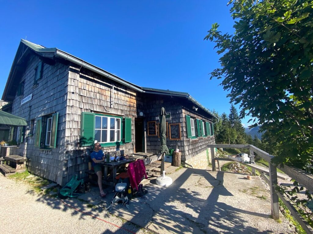 Ennstalerhütte, de oudste berghut in het nationale park Gesäuse