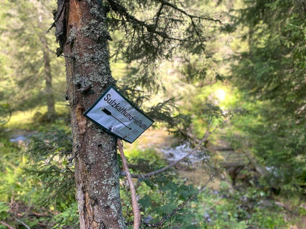 Route naar Sulzkarhund en de Hesshutte