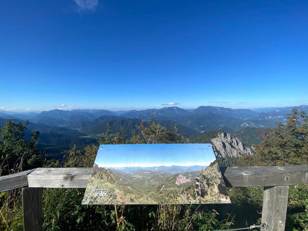 Uitzicht vanaf de Ennstalerhütte