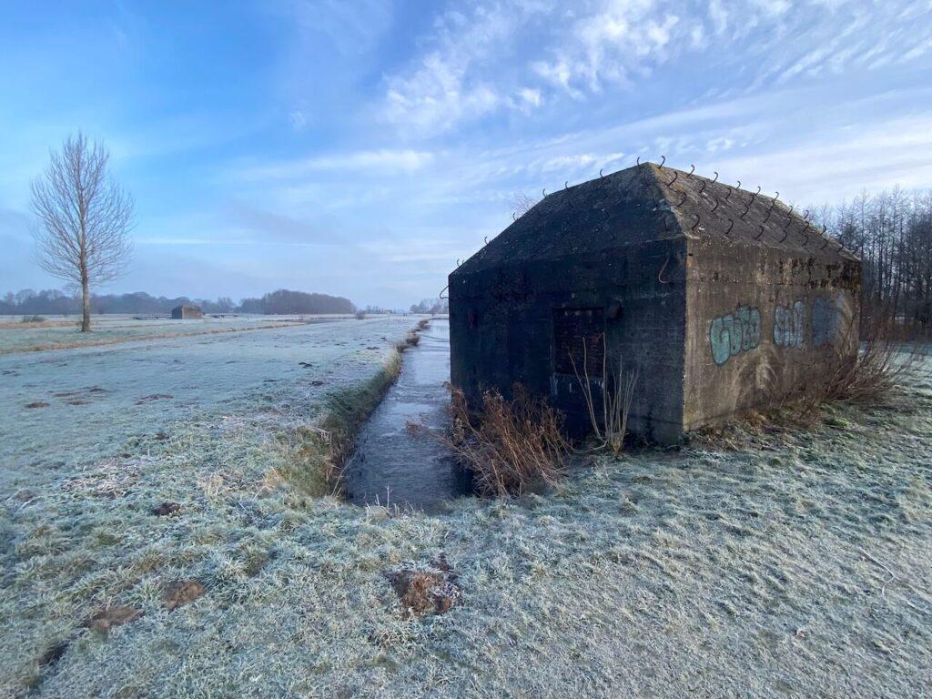 Een van de vele bunkers tijdens Rondje Ruigenhoek