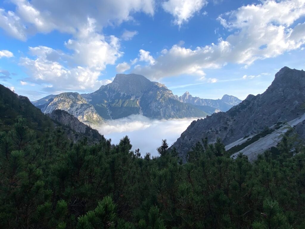 Afdalen vanaf de Haindlkarhütte