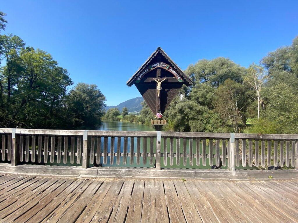 Mödringsbrücke over de rivier de Enns bij Admont