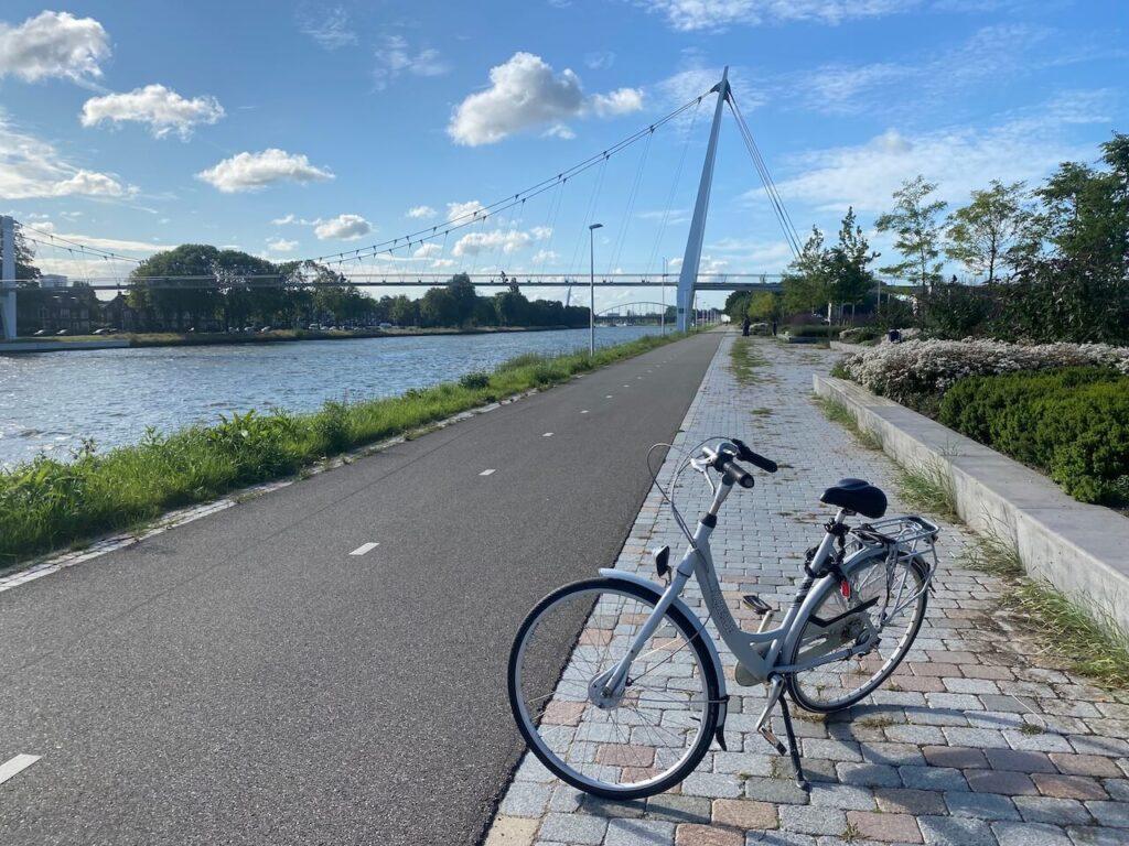 Fietsroute vanaf de Dafne Schippersbrug Utrecht